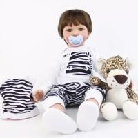 Boneka Reborn Baju Motif Zebra / Boneka Anak / Boneka Bayi / NPK