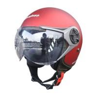 Cargloss YRM Micrometric Buckle, visor Hardcoat Halfface - Red Doff
