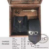Groomsmen Box Bestman Cufflinks Dasi Wedding Bowtie Suspender Charles