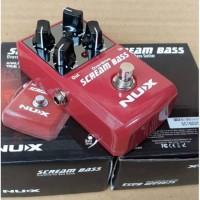 bass effect / Efek Nux Scream Bass analog overdrive Original