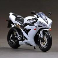 Jual Diecast Miniatur Motor Yamaha YZF R1 skala 1/12 Maisto White