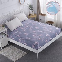 SUPER Polyester Mattress Protector Pink Flamingo Bed Cover