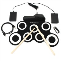 Top Brand Digital Portable Roll Up Electronic Drum Kits Pad with