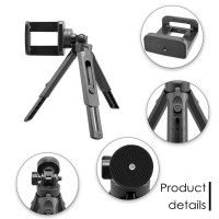 Tripod Mini Vlog Handle Grip Selfie Stick Portable With Phone Holder