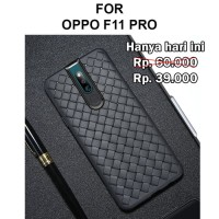 Case Oppo F11 Pro softcase casing back cover botega anti panas WOVEN
