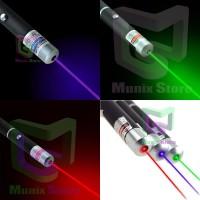 Senter Laser Pointer Presentasi - MERAH BIRU HIJAU [Bundling]