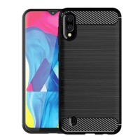 Case Ipaky Carbon Fiber SAMSUNG M10 2019 Softcase Shockproof TPU