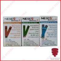 Paket Refill Test Strip Gula + Kolesterol + Asam Urat Stik NESCO