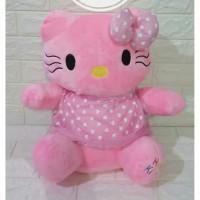 Boneka Hello Kitty Dress Pink Size Xl Bahan Yelvo Super Lembut