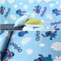 Grosir Murah Wallpaper Sticker Dinding Karakter Stitch biru