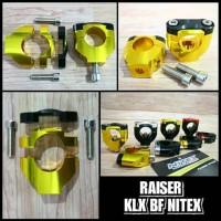Riser klx bf nitex raiser klx bf nitex dudukan stang klx bf nitex