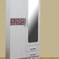 Lemari Pakaian 2 Pintu Motif Batik Horisontal