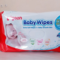 TISSUE BASAH BABY WIPES PURE WATER 60S PIGEON (TB5835)