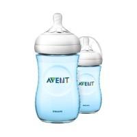 Botol Susu Philips Avent Natural Feeding Bottle - Blue [Twin/ 260 mL]