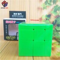 Rubik Mirror Qiyi STICKERLESS GREEN Amory Cubes
