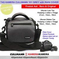 Tas Kamera CULLMANN 101 Grey Rain Cover DSLR Mirrorless Camera Bag