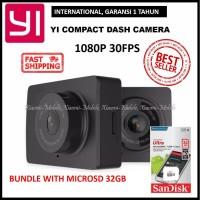 Xiaomi Yi Car Dash Camera Dashcam 1080P Black International + 32GB