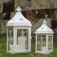 Lentera Lampion Tempat Lilin Candle Holder 2 in 1 Terrace Lantern