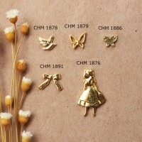 MURAH Manik 3D Topping Metal Nail Art Dekorasi Isi Resin Clay Craft