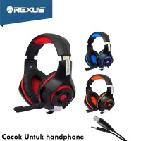 Rexus Headset Gaming Vonix F55 With Mic LED F-55