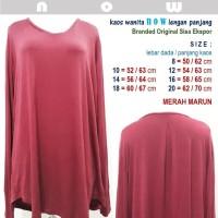 Kaos Wanita NOW - Lengan Panjang - Branded Ori Sisa Ekspor - Marun