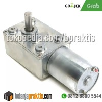 DC 12V 10rpm Reversible High Torque Turbo Worm Geared Motor DC JGY370
