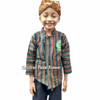 SETELAN BAJU Surjan / Lurik Anak + BLANGKON Solo ( Size L, XL, XXL )