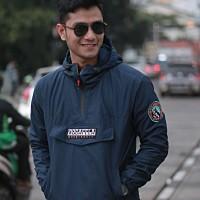 jaket cagoule pria / parasut taslan premium / jaket outdoor