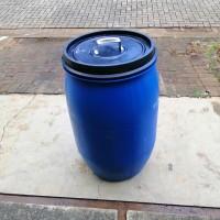 tempat sampah kap.120L murah&awet dari pemanfaatan drum plastik HDPE
