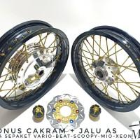 Velg Paketan Tromol Jari Jari Ring 14 Untuk Motor Matic Vario 110-125-