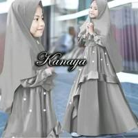 Setelan Anak Perempuan Muslim Kayana Baju Muslim Gamis Kids 2in1