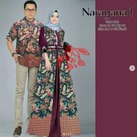 Baju Busana Muslim Gamis Couple Pria Wanita CP NARAYANA