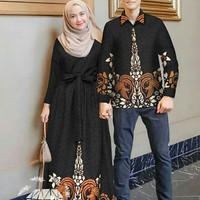 Baju Busana Muslim Gamis Couple Pria Wanita CP NAJWA SHIHAB