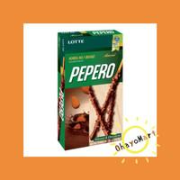 Pepero Almond / Biskuit Stik Berlapis Coklat Almond/ Snack ringan 32g