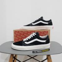 Sepatu Vans Old Skool Mono Black White DT Premium oldskool Pria Cowok