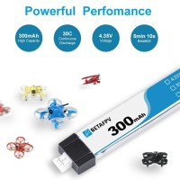Betafpv 1s lihv 300mah lipo battery