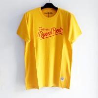 Kaos Distro Queen Beer - Yellow,M