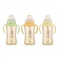 PPSU Wide Neck Feeding Bottle with Auto Straw & Handle (270ml)