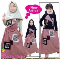 little pineapple setelan rok hijab anak sling bag LOL OK 3-8Y