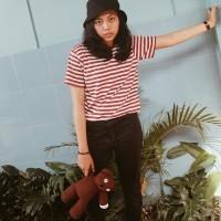 T-Shirt Stripe Red White