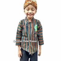 SETELAN BAJU Surjan / Lurik Anak + BLANGKON Solo ( Size L, XL )