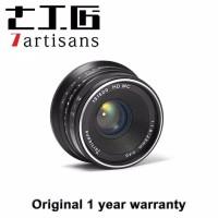 lensa 7 artisans 7artisans 7artisan 25mm fuji x f1.8 BLACK SILVER
