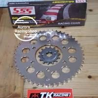 Gear Set TK MX King & Rantai SSS 415 HSBT Gold