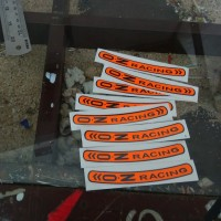 sticker cutting oz racing sticker velg motor