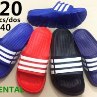 Grosir Sandal / Sendal model adidas strip 3 merk oriental size 36 - 40