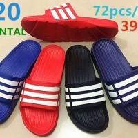 Grosir Sandal / Sendal model adidas strip 3 merk oriental size 39 - 44
