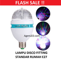 Lampu DISCO LED Fitting e27 tumblr mini otomatis disko warna warni RGB