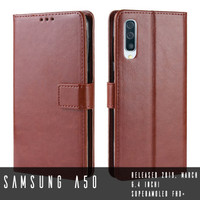Samsung Galaxy A50 Leather Case Casing Kulit Flip Wallet Cover