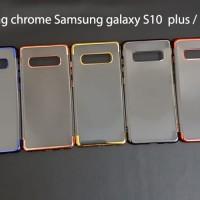 Samsung s10 PLUS SHINING CHROME TPU CASE CLEAR Silicone Case