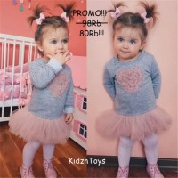 Baju Bayi Anak Perempuan Import Lucu/Cute Baby Girls Dress Heart Lace